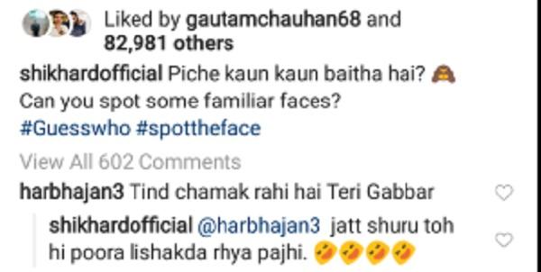 Harbhajan singh hilarious reply on Shikhar dhawan pic going viral