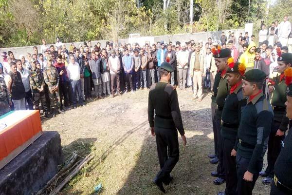 PunjabKesari, Soldier Funeral Image