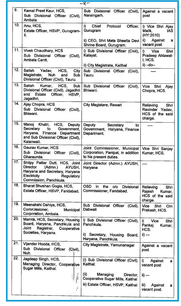 PunjabKesari hcs, transfer