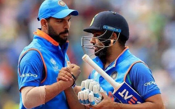 Where is man of the series trophy - Yuvraj after rohit 5th century