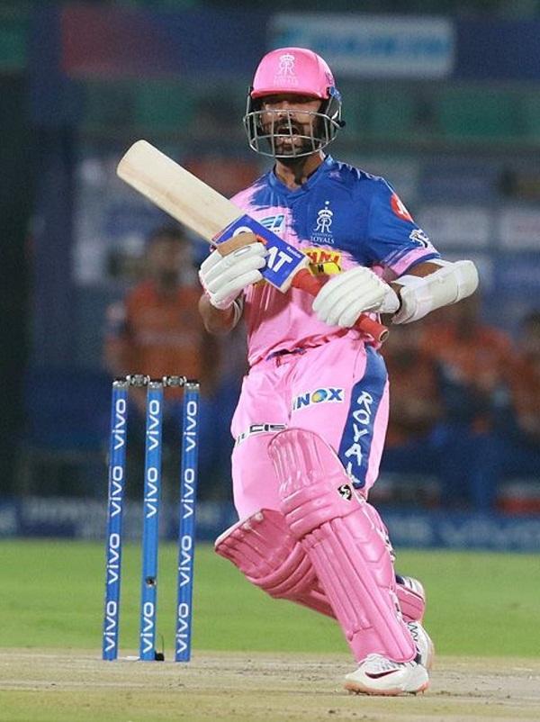 Ajinkya rahane hits second century of IPL