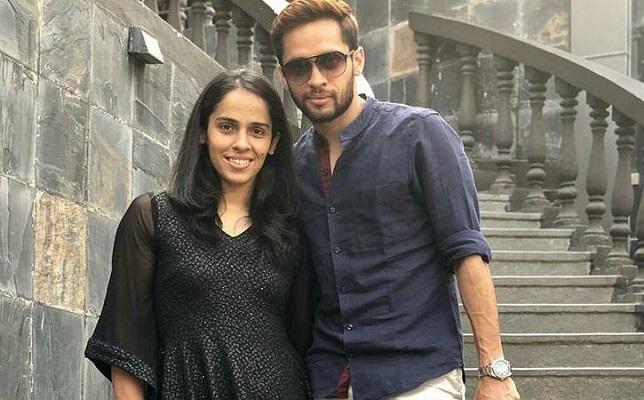 Saina Nehwal with Parupalli Kashya