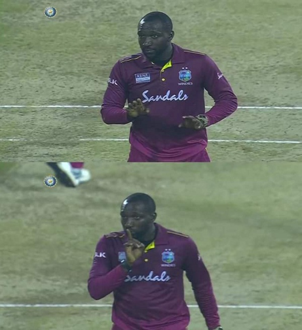 Kesrick Williams don't celebrate Virat Kohli wicket, See video