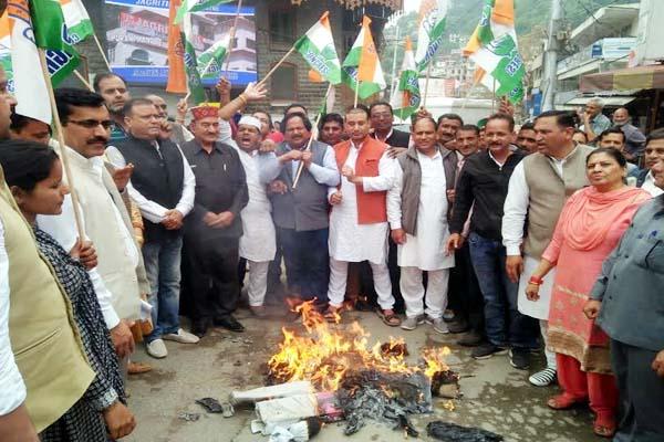 PunjabKesari, Effigy Burn Image