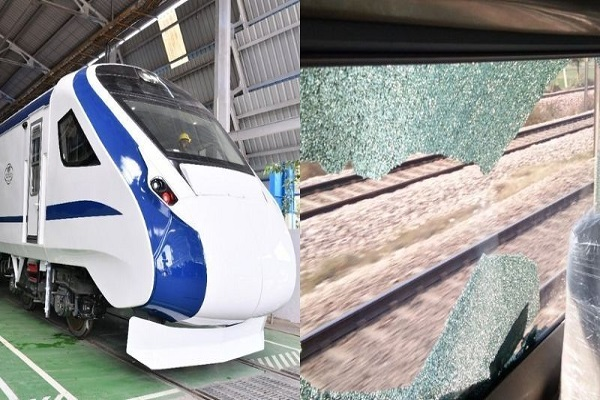 train 18  potholes broken glasses during trials