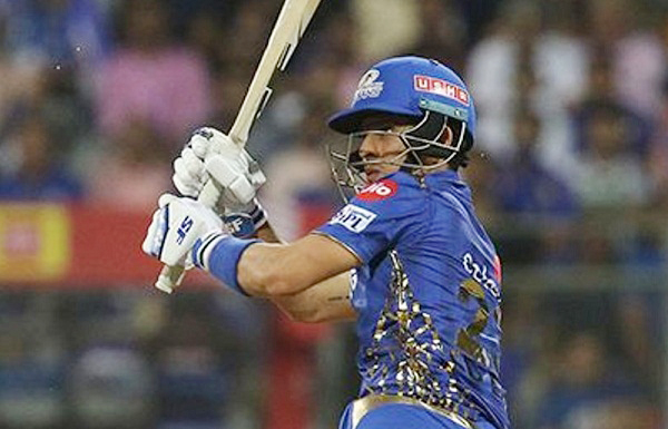 IPL 2019 : Siddhesh Lad first ball for six in his IPL Debut
