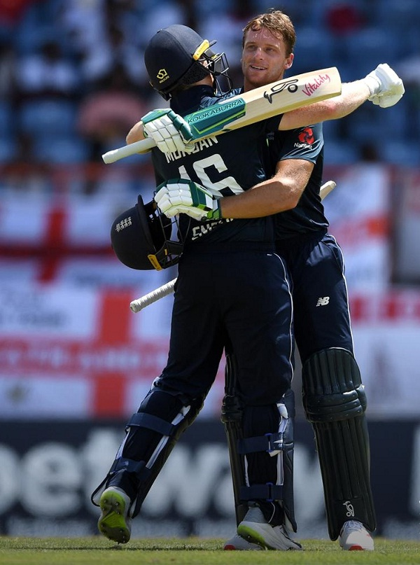 WI vs ENG : Jos Buttler Smash 150 runs in just 77 balls against windies