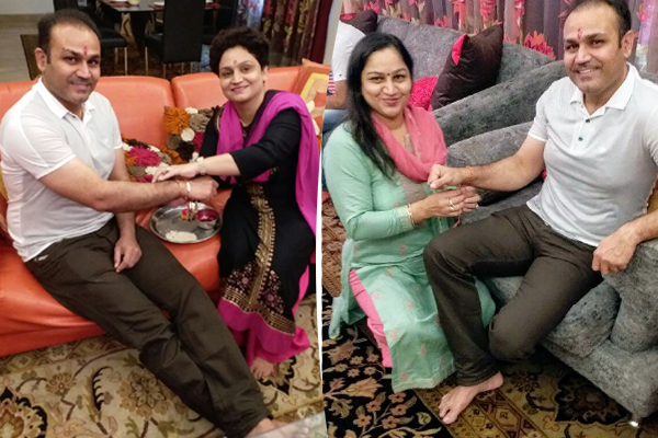 INDIAN CRICKETER CELEBRATE RAKSHA BANDHAN WITH SISTERS
